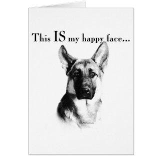 German Shepherd Happy Face Card