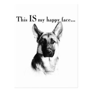 German Shepherd Happy Face Postcards