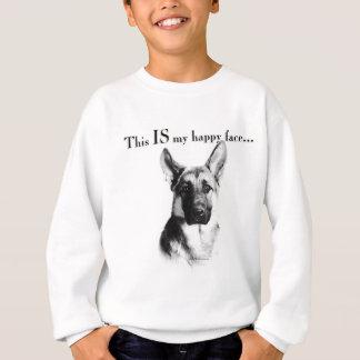 German Shepherd Happy Face Sweatshirt