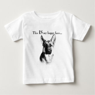 German Shepherd Happy Face Tee Shirts