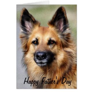German Shepherd Happy Father's Day Card
