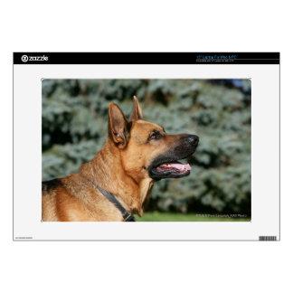 """German Shepherd Headshot 1 15"""" Laptop Skin"""