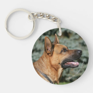 German Shepherd Headshot 1 Keychain