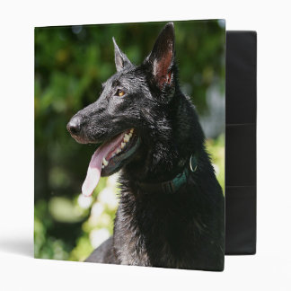 German Shepherd Headshot 2 Vinyl Binder