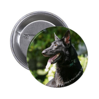 German Shepherd Headshot 2 Pinback Button