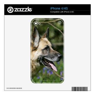 German Shepherd Headshot 3 Decals For The iPhone 4