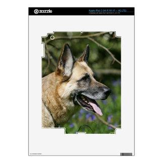 German Shepherd Headshot 3 iPad 3 Decal