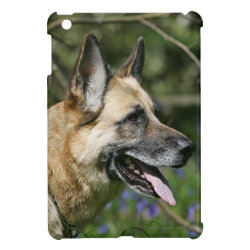 German Shepherd Headshot 3 iPad Mini Cover