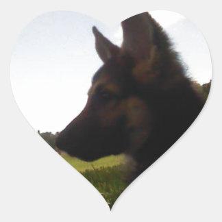 German Shepherd Heart Sticker
