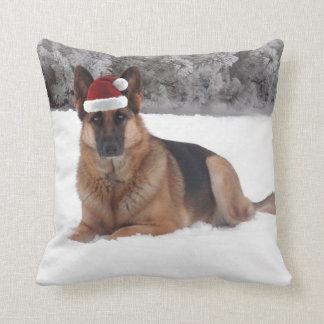 German Shepherd Holiday Throw Pillow