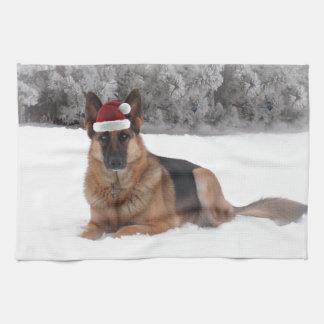 German Shepherd Holiday Towels