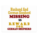 German Shepherd & Husband Missing Reward For Germa Post Card