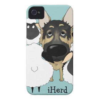 German Shepherd - iHerd Case-Mate iPhone 4 Case