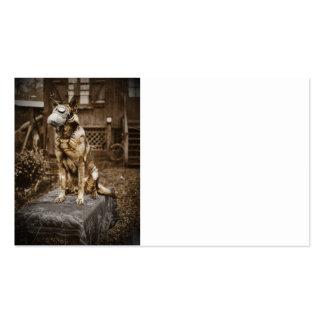 German Shepherd in Gas Mask Business Card