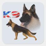 German Shepherd K9 Vierkant Sticker
