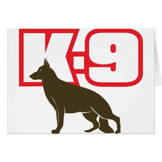 German Shepherd K-9 Card