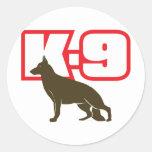 German Shepherd K-9 Classic Round Sticker