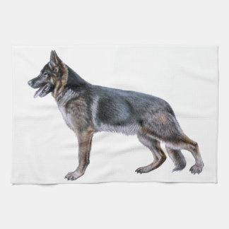 German Shepherd kitchen towel