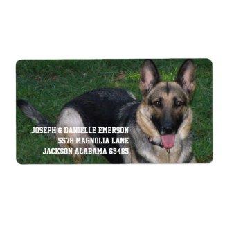 German Shepherd label