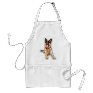 German shepherd laughing adult apron