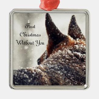 German Shepherd Lost Pet Memorial Metal Ornament