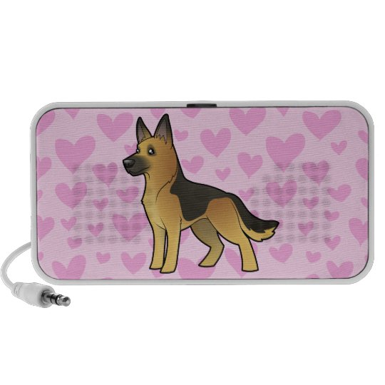 German Shepherd Love (add your own pattern) Portable Speaker