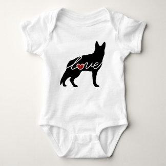 German Shepherd Love Baby Bodysuit