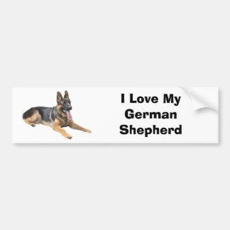German Shepherd Love Bumper Sticker