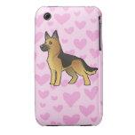 German Shepherd Love Case-Mate iPhone 3 Case