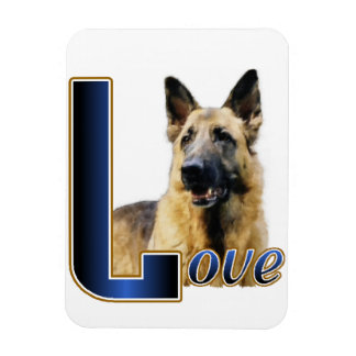 German Shepherd Love Magnet