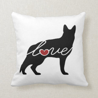 German Shepherd Love Throw Pillow