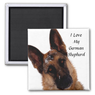 German Shepherd Magnet 2 Inch Square Magnet