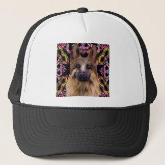 German Shepherd Mardi Gras Trucker Hat