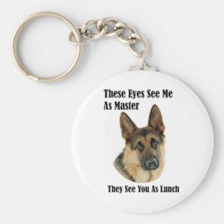 German Shepherd Master Basic Round Button Keychain