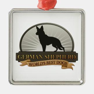German Shepherd Metal Ornament