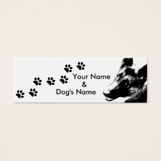 German Shepherd Mini Business Card