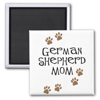 German Shepherd Mom 2 Inch Square Magnet