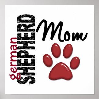 German Shepherd Mom 2 Posters