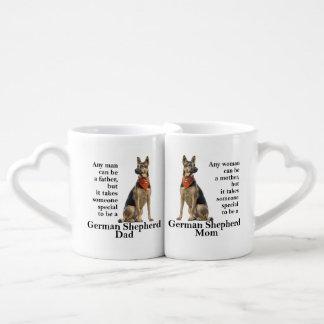 German Shepherd Mom and Dad Mugs