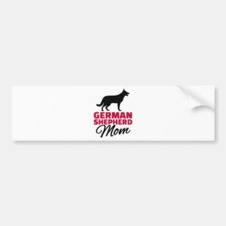 German shepherd Mom Bumper Sticker