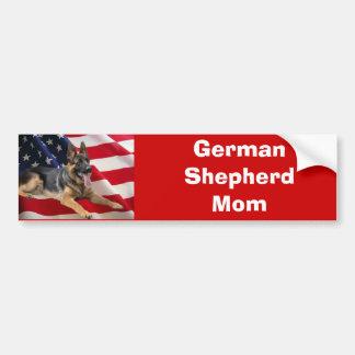 German Shepherd Mom Bumper Sticker Car Bumper Sticker