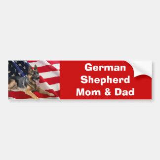 German Shepherd Mom & Dad Bumper Sticker