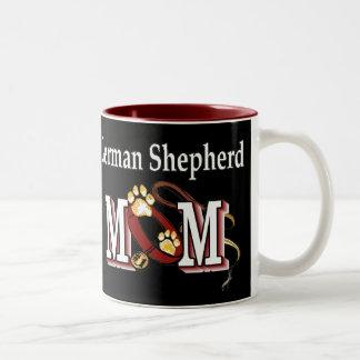 German shepherd MOM Gifts Two-Tone Coffee Mug
