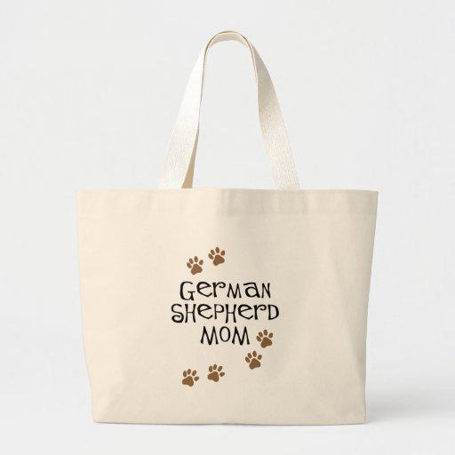 German Shepherd Mom Jumbo Tote Bag