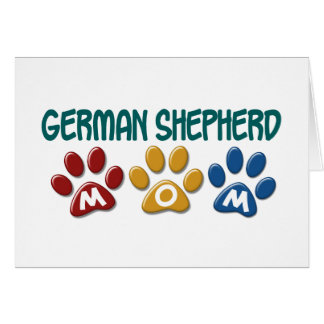 GERMAN SHEPHERD Mom Paw Print 1 Card