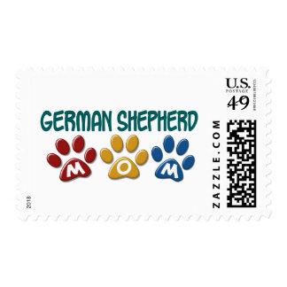 GERMAN SHEPHERD Mom Paw Print 1 Postage