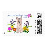 German Shepherd Mom Postage Stamp