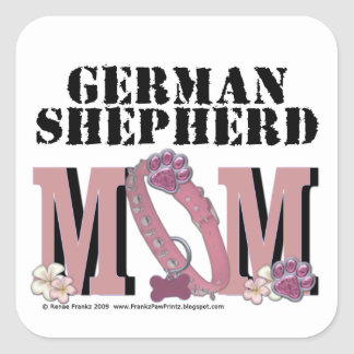 German Shepherd MOM Square Sticker