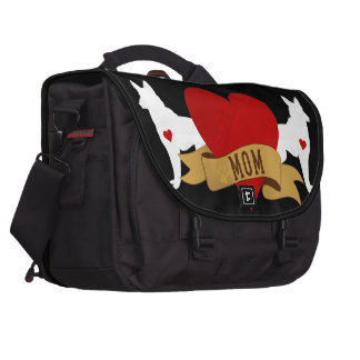 German Shepherd Mom [Tattoo style] Bags For Laptop