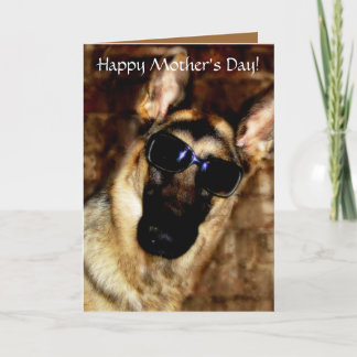 German Shepherd Mother's Day Card